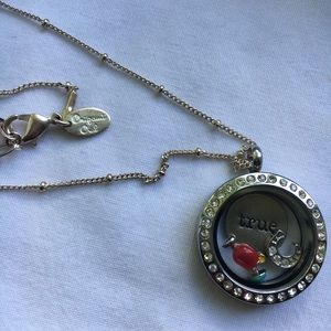 Origami Owl Necklace, Locket, and Charms